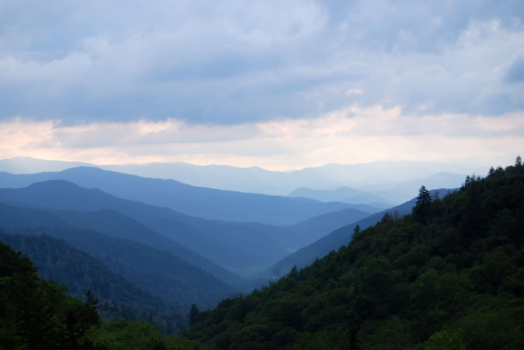 view of great smoky mountains